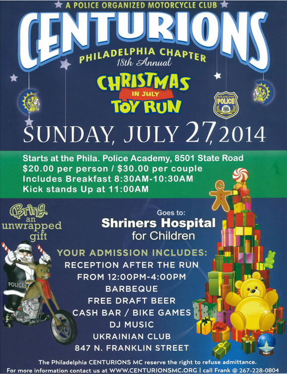 Christmas in July Toy Run – Centurions – Patriot Connections