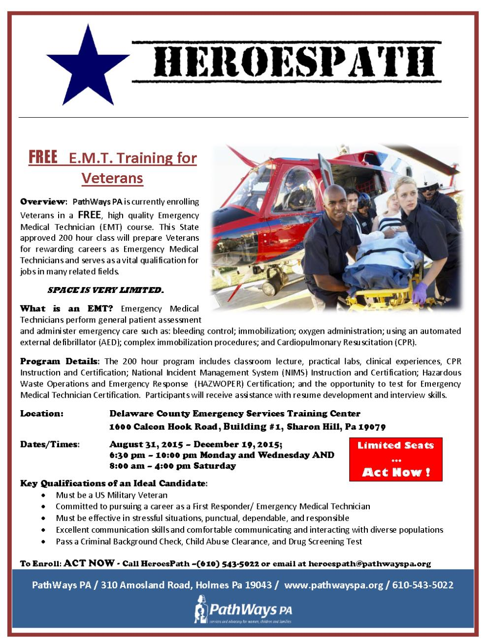 Free Emt Training For Veterans Patriot Connections