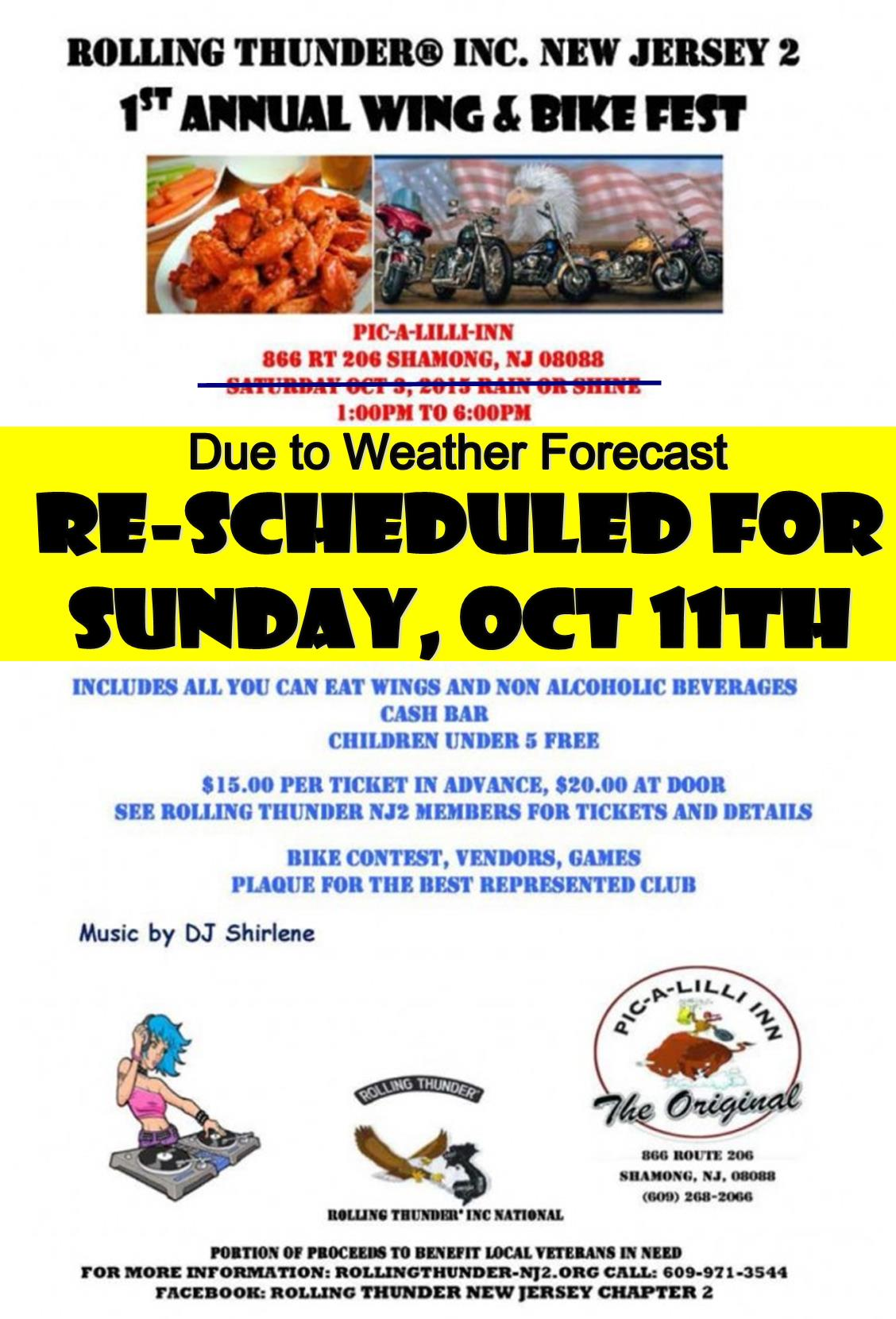 Rolling Thunder New Jersey2 1st annual wing and bike fest