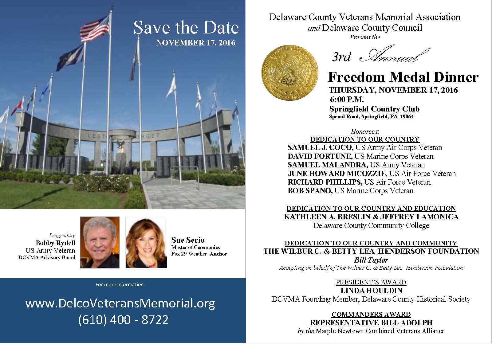 3rd Annual Freedom Medal Dinner