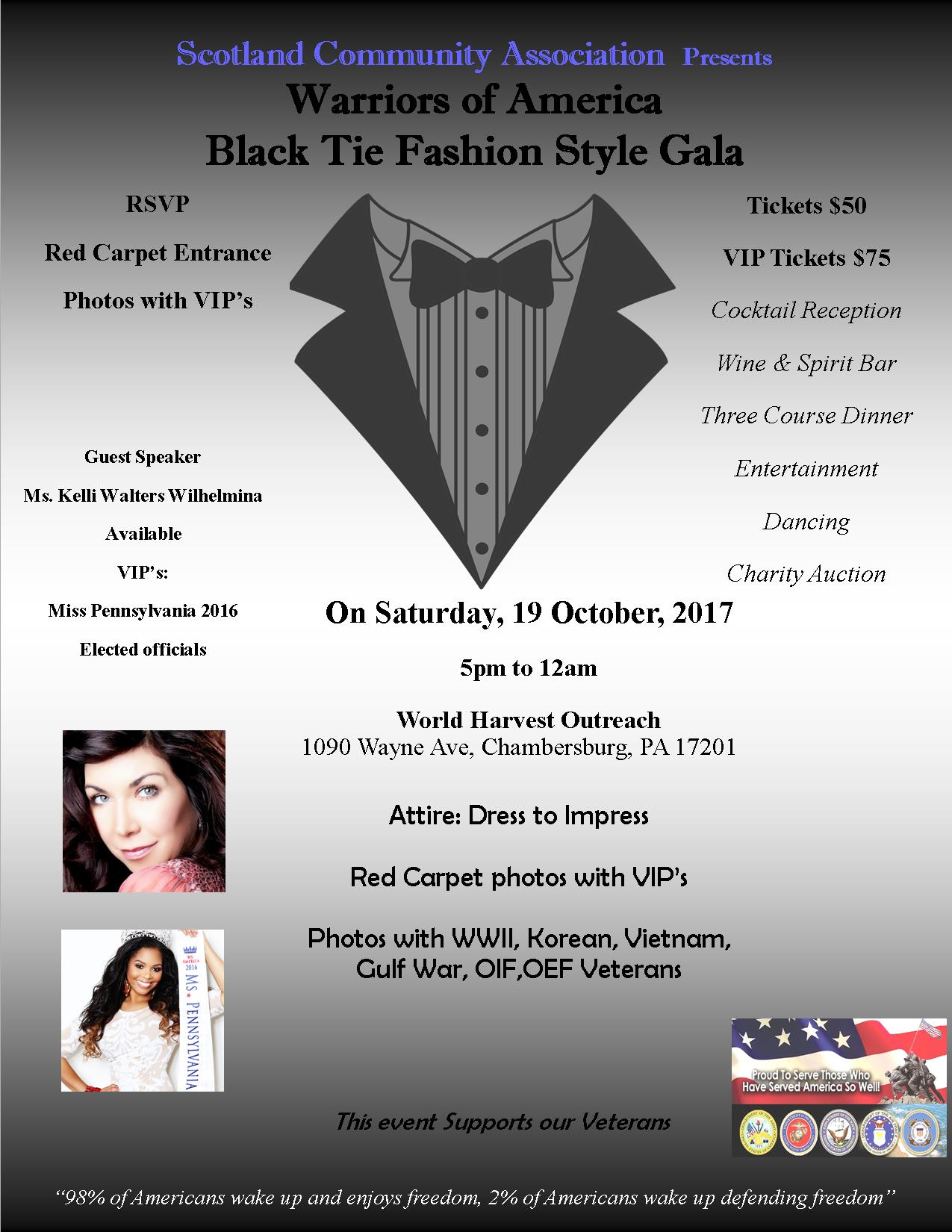 Black Tie Fashion Style Gala