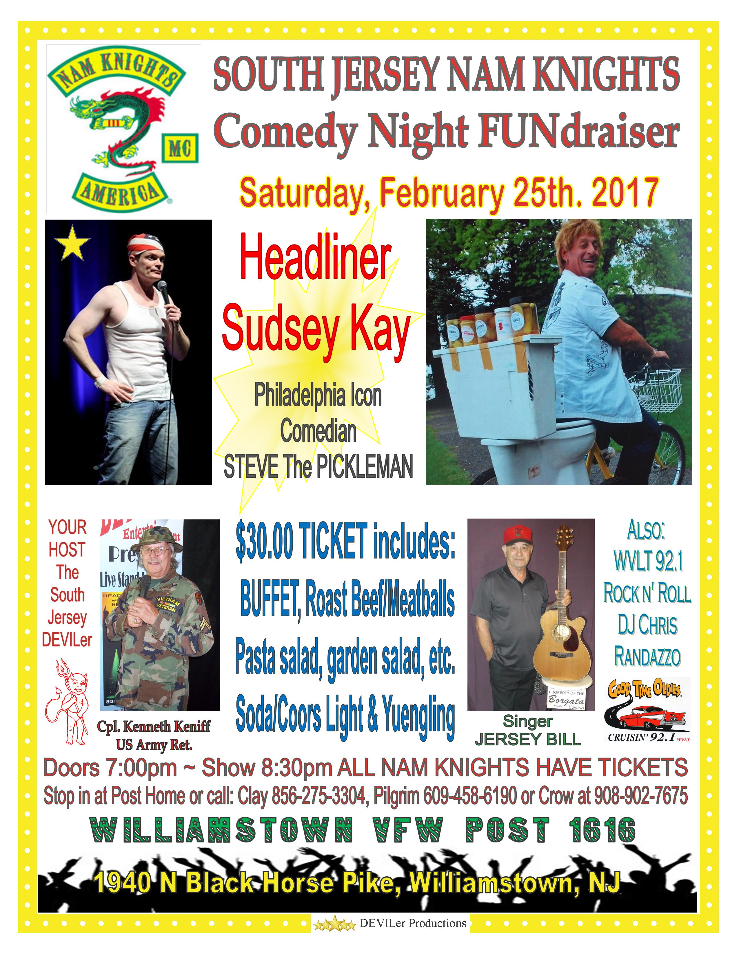 South Jersey Nam Knights Comedy Night FUNdraiser