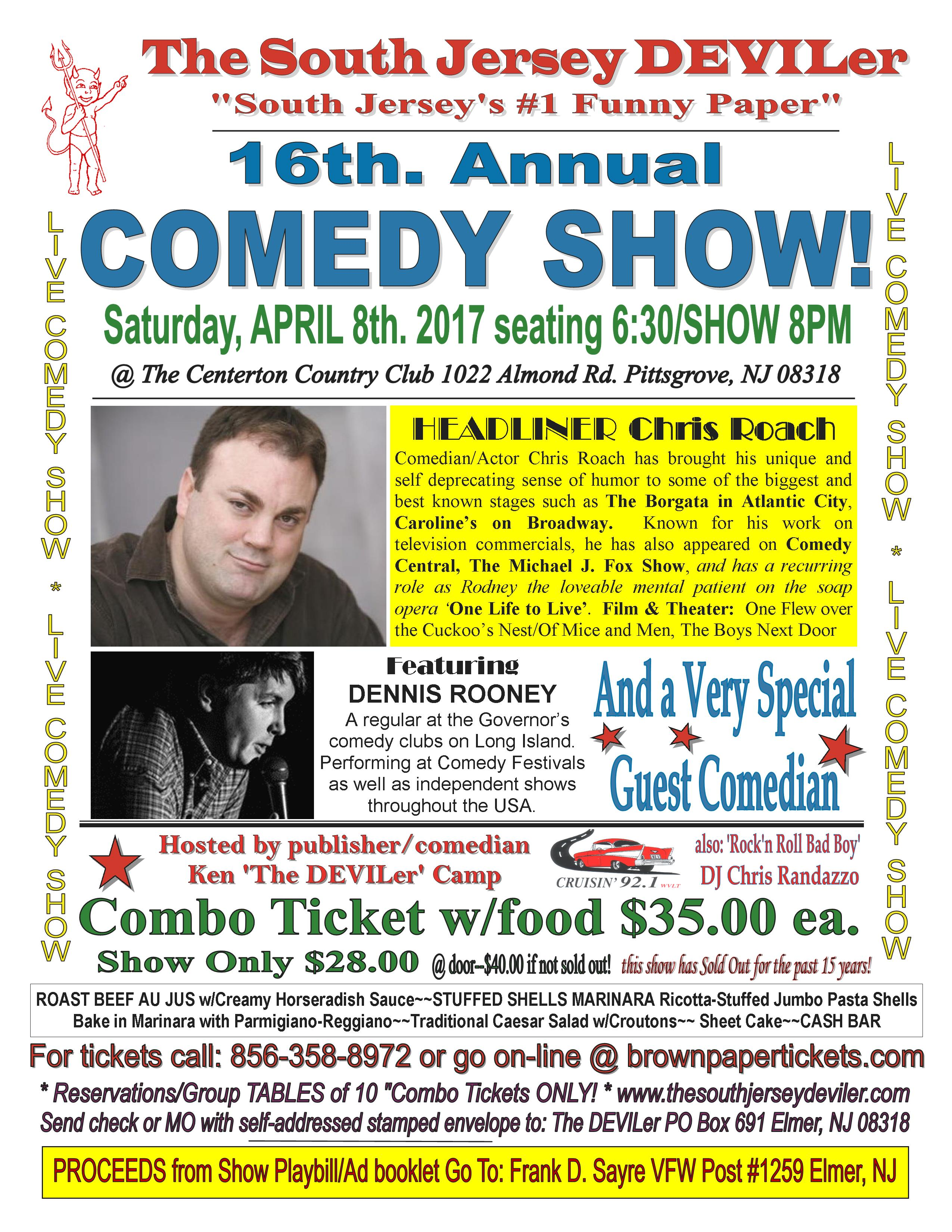 The South Jersey DEVILer's 16th  Annual Comedy Show