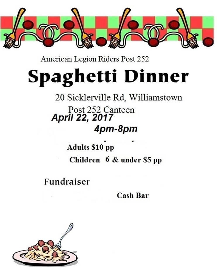American Legion Riders Post 252 Spaghetti Dinner