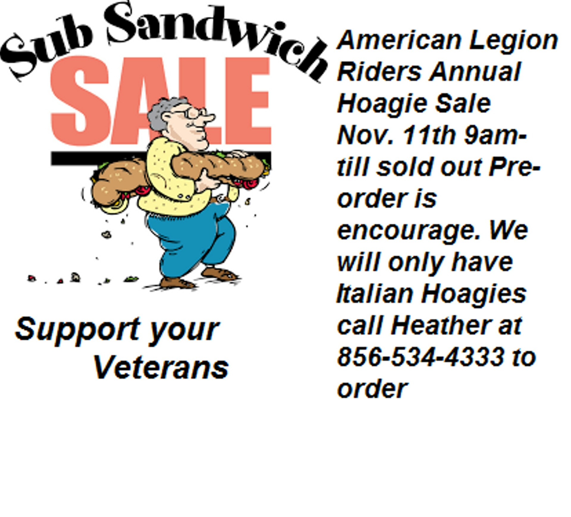 Legion Riders Post 252 Hoagie Sale