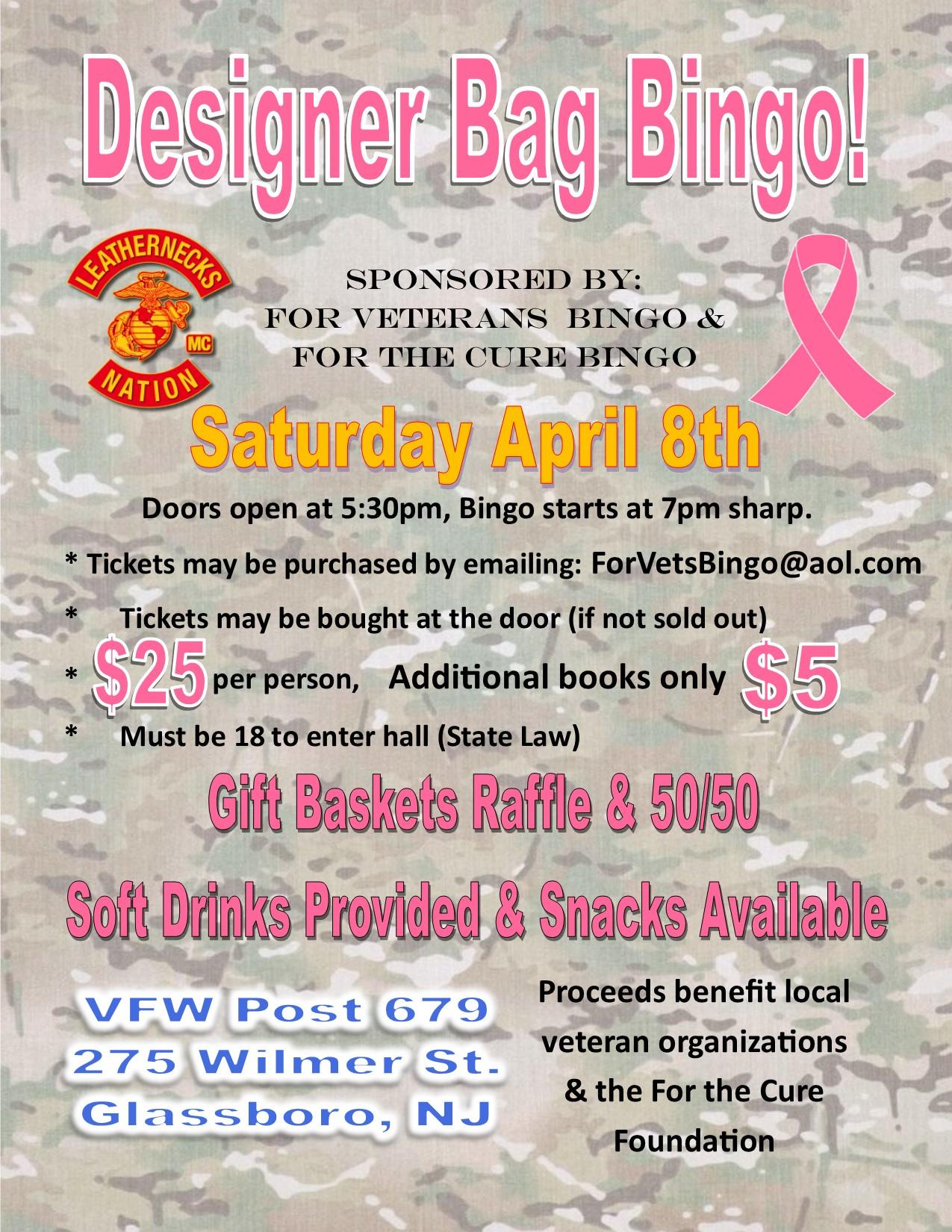 Veterans Designer Bag Bingo