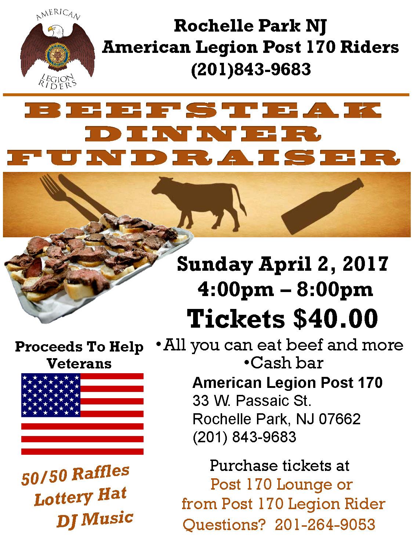 Rochelle Park NJ American Legion Post 170 Riders Beefsteak Fundraiser