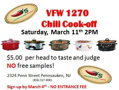 VFW Annual Chili Cook-Off