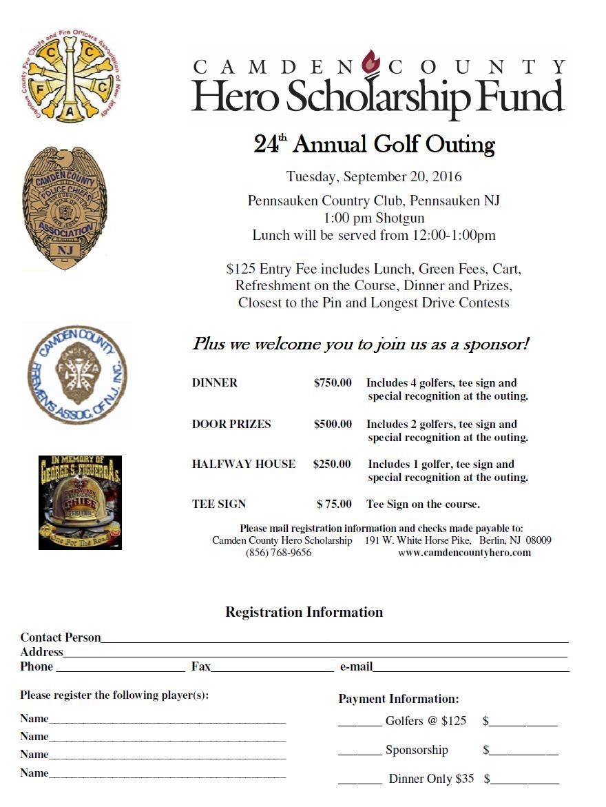 Camden County Hero Scholarship GOLF Outing