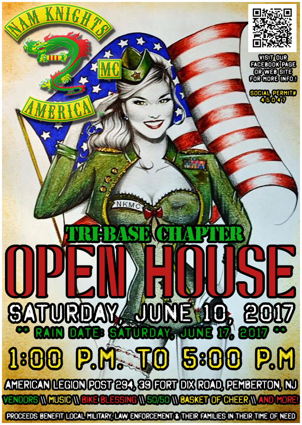 Nam Knights of America Motorcycle Club, Tri-Base Chapter Open House and Fundraiser