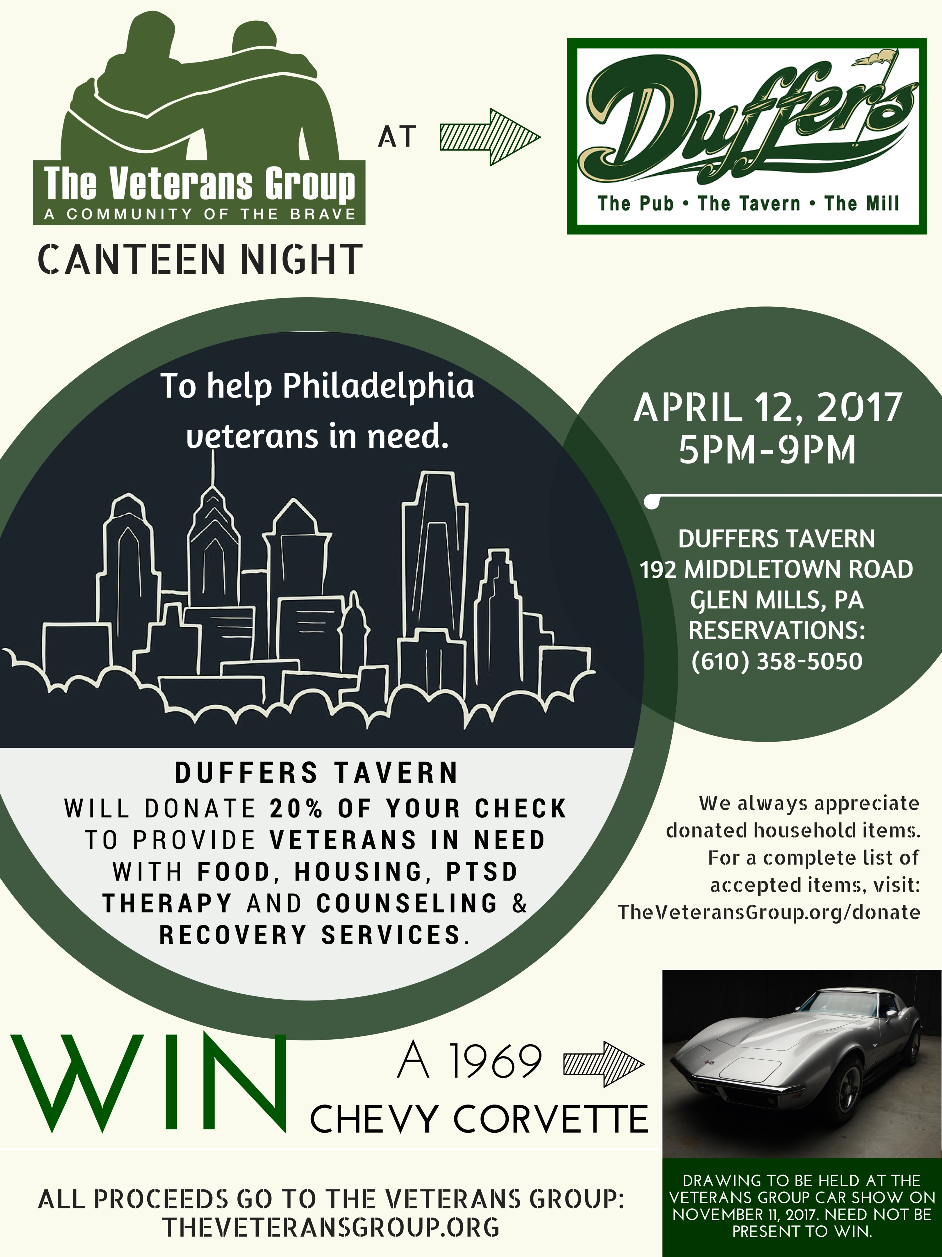 Canteen Night at Duffers Tavern