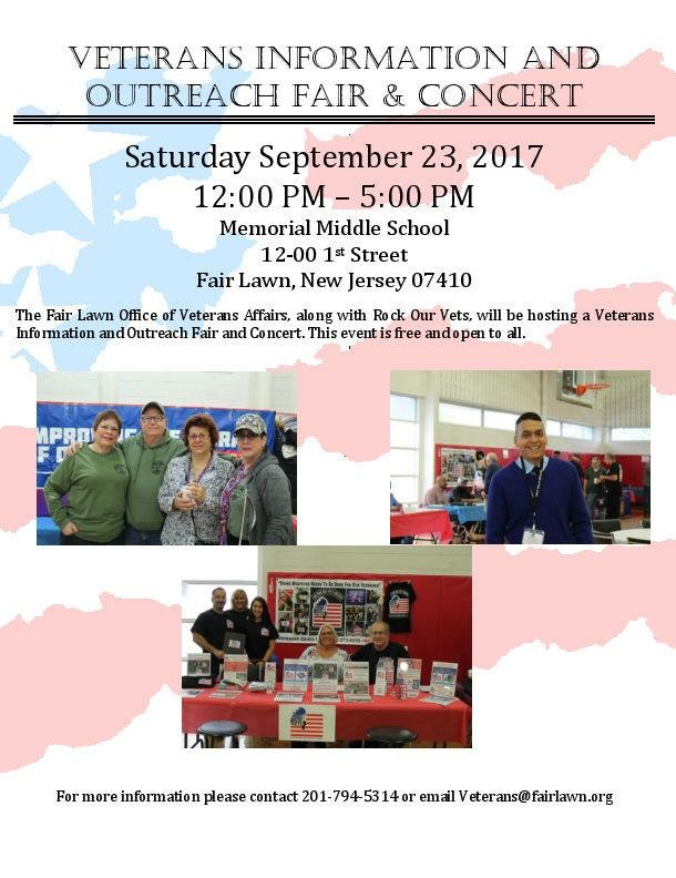 Veterans Information, Outreach Fair and Concert