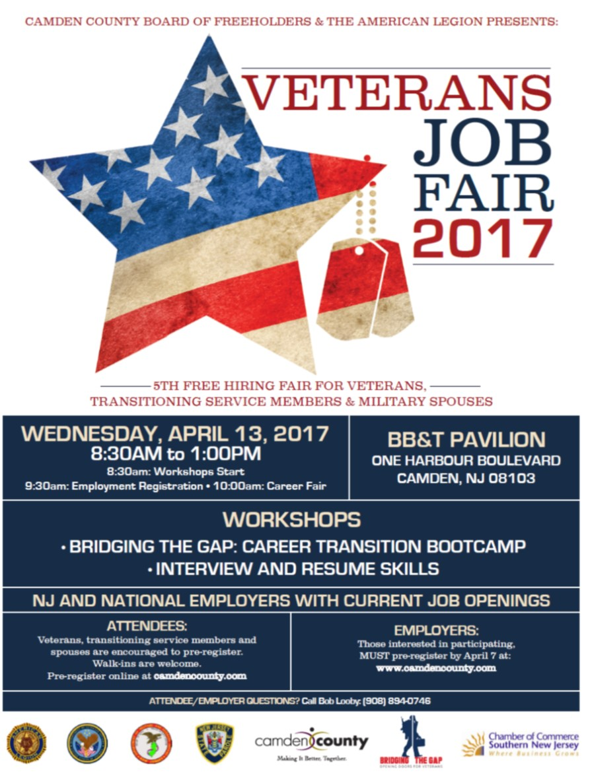 5th Camden County Veterans Job Fair