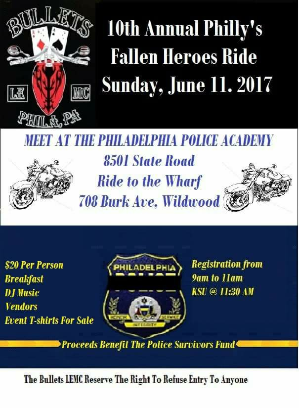 10th Annual Phillys Fallen Heroes Ride