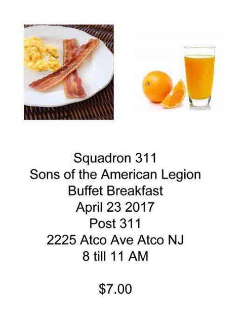 Buffet Breakfast - Amer Leg Atco