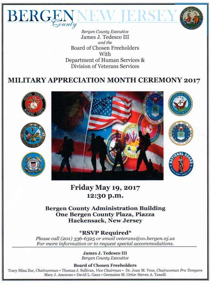 Annual Military Appreciation Month Ceremony