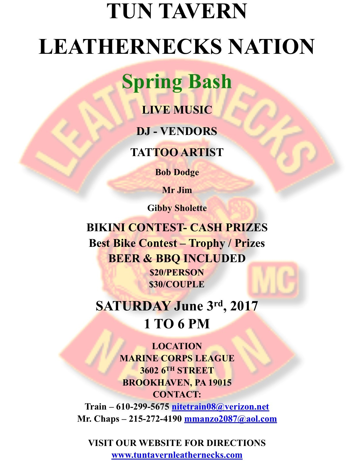 Spring Bash - Leathernecks MC