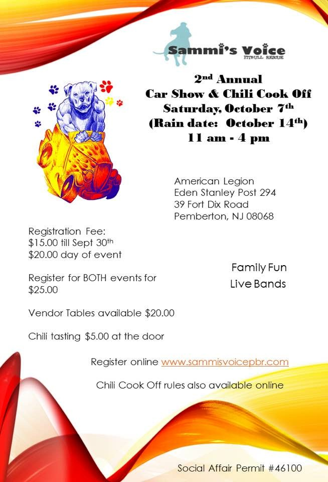 2nd Annual Car Show and Chili Cook Off - Amer Leg
