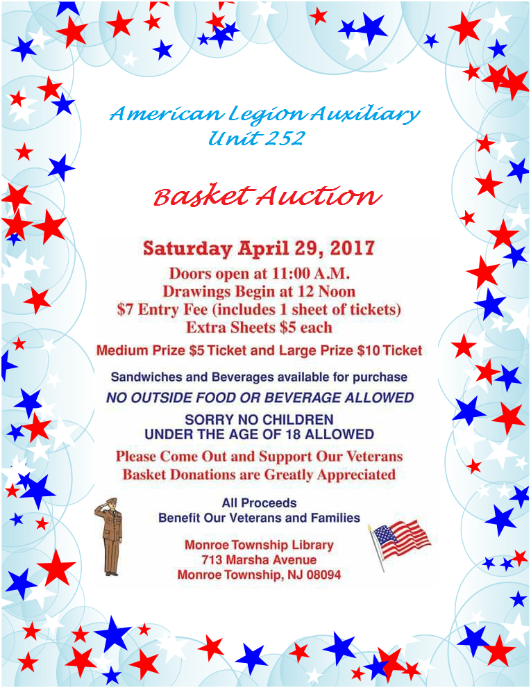 American Legion Auxiliary Post 252 Basket Auction