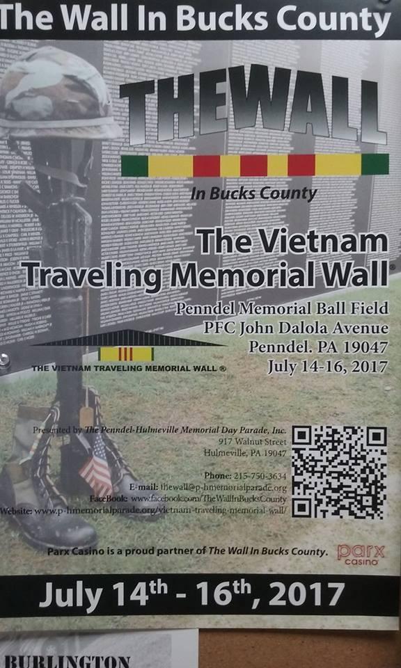 Traveling Vietnam Wall in Bucks County PA