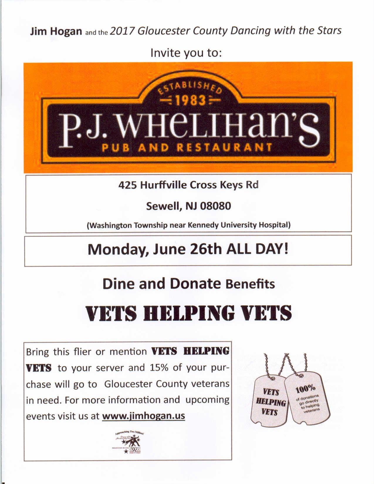 Vets Helping Vets - Dine & Donate - Jim Hogan