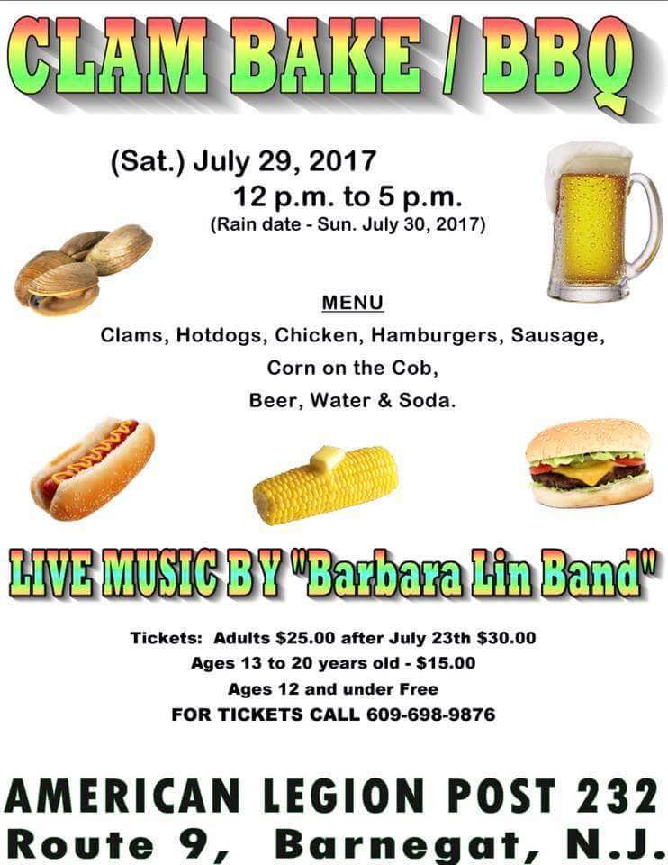 Clam Bake & BBQ - Amer Legion