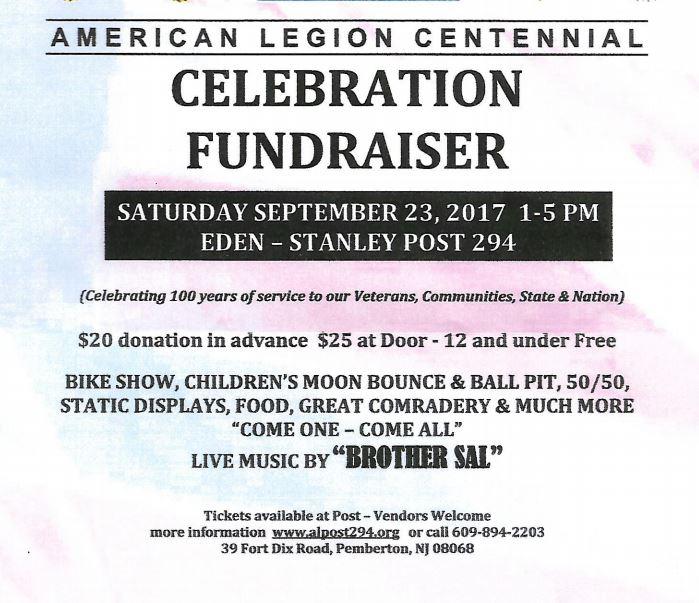 NJ American Legion Centennial Fundraiser
