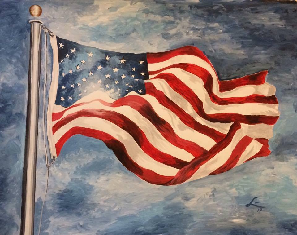 "USO fundraiser ""UNFURLED"" numbered fine art print"