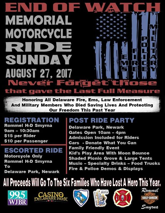 End of Watch Memorial Ride