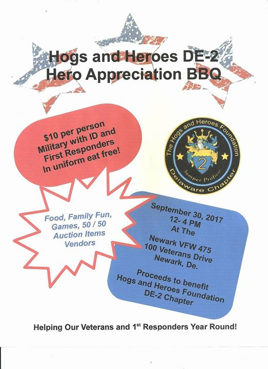 Hogs And Heroes De-2 Hero Appreciation BBQ