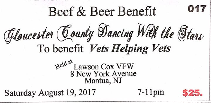 "Beef & Beer Benefit ""Vets Helping Vets"""