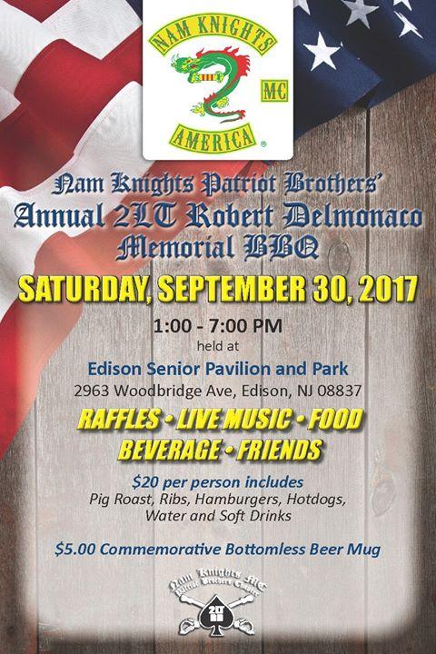 3rd Annual 2LT Robert Delmonaco Memorial BBQ