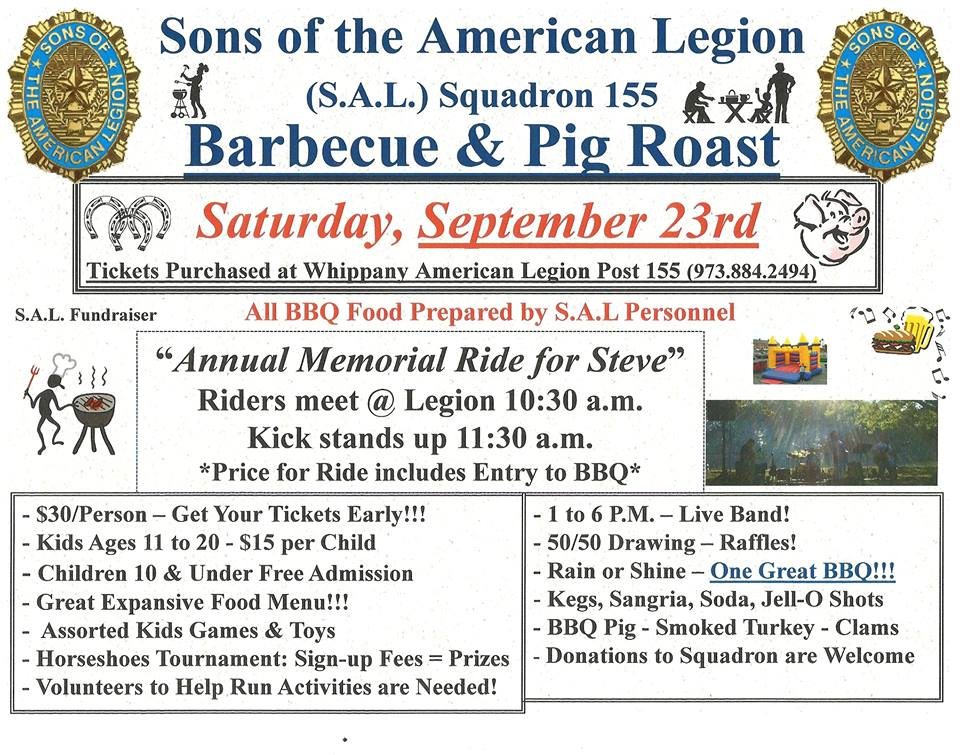 BBQ, Pig Roast & Ride - American Legion