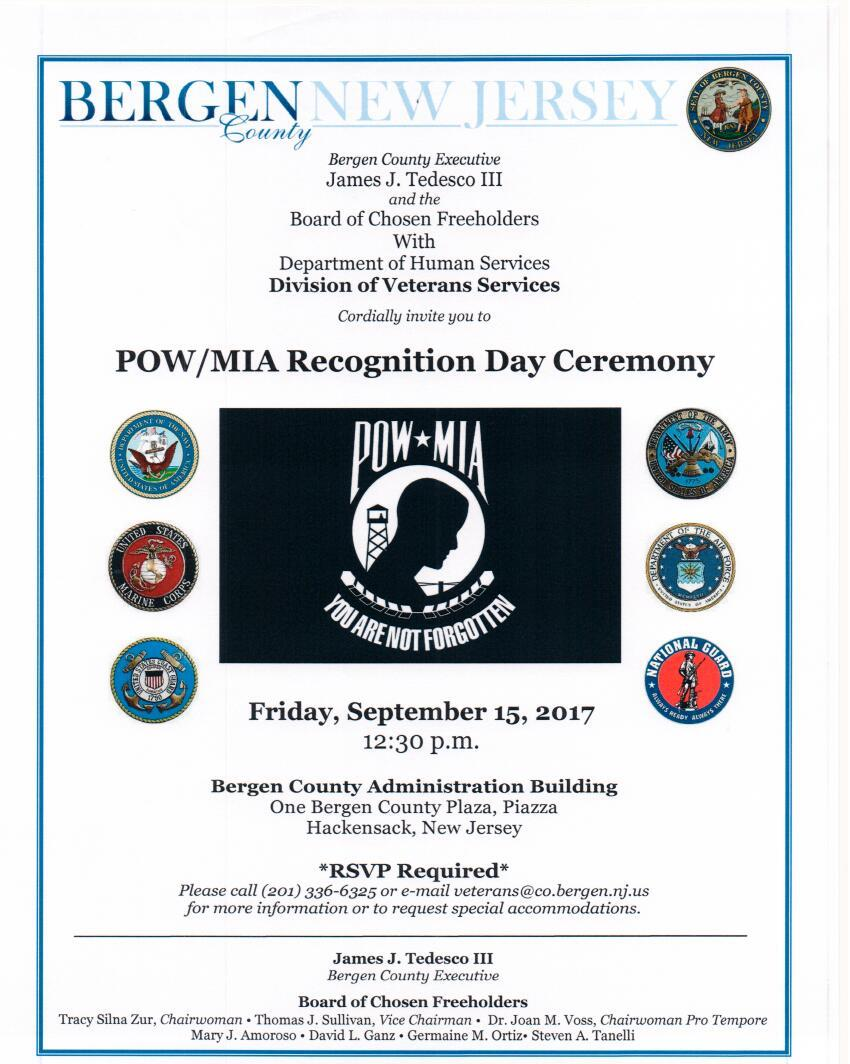 POW/MIA Recognition Day Ceremony