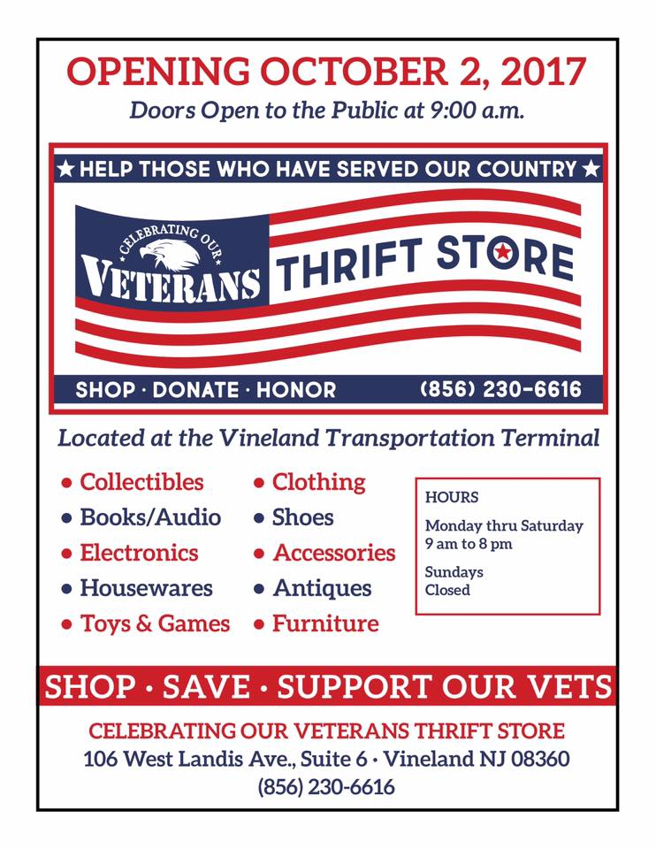 Grand Opening - Celebrating Our Veterans Thrift Shop