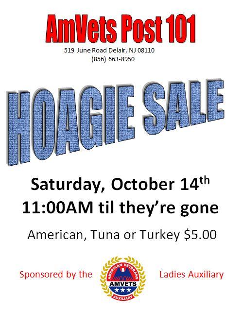 AMVETS Ladies Auxiliary Hoagie Sale