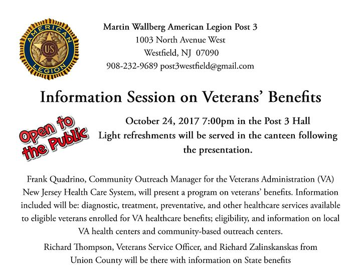 Information Session - Veterans' Benefits