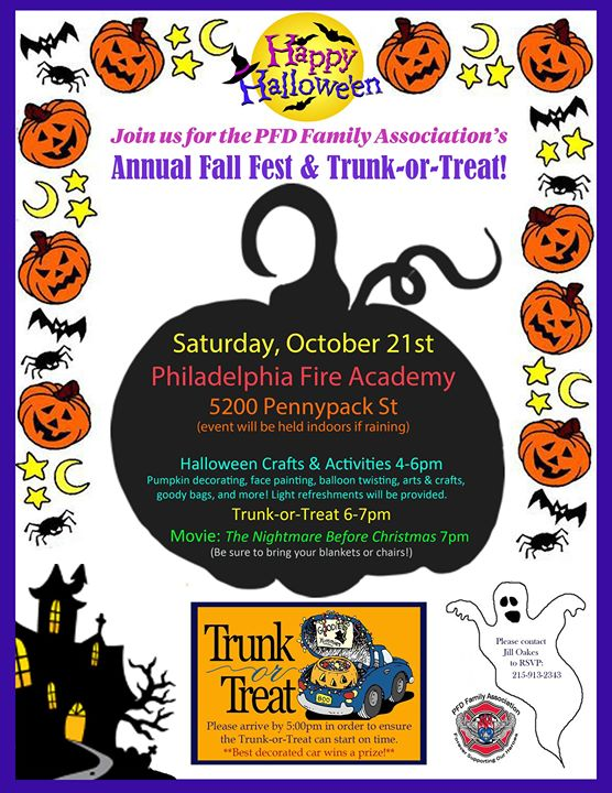 PFD FA's Fall Fest & Trunk or Treat