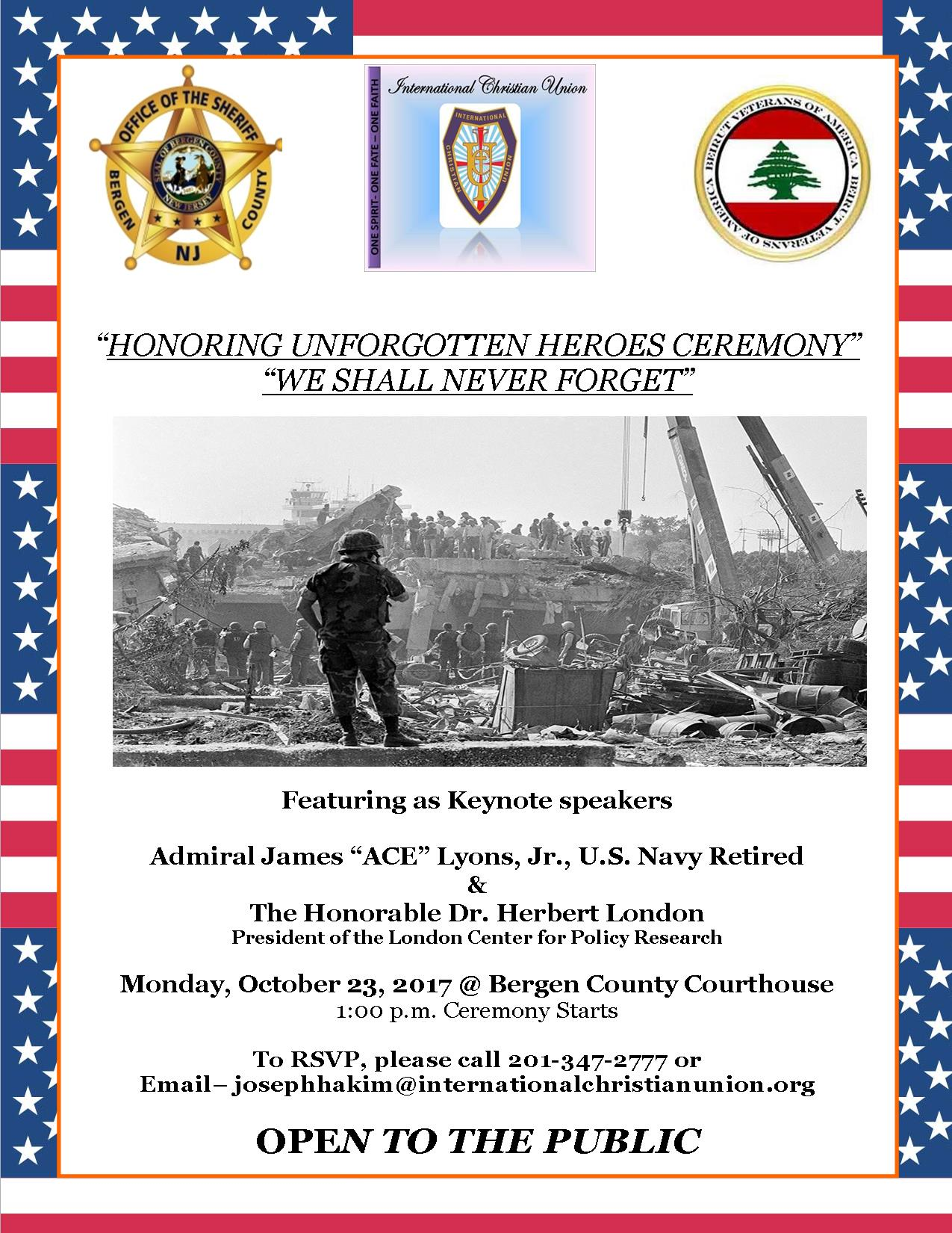 Honoring Unforgotten Heroes Ceremony