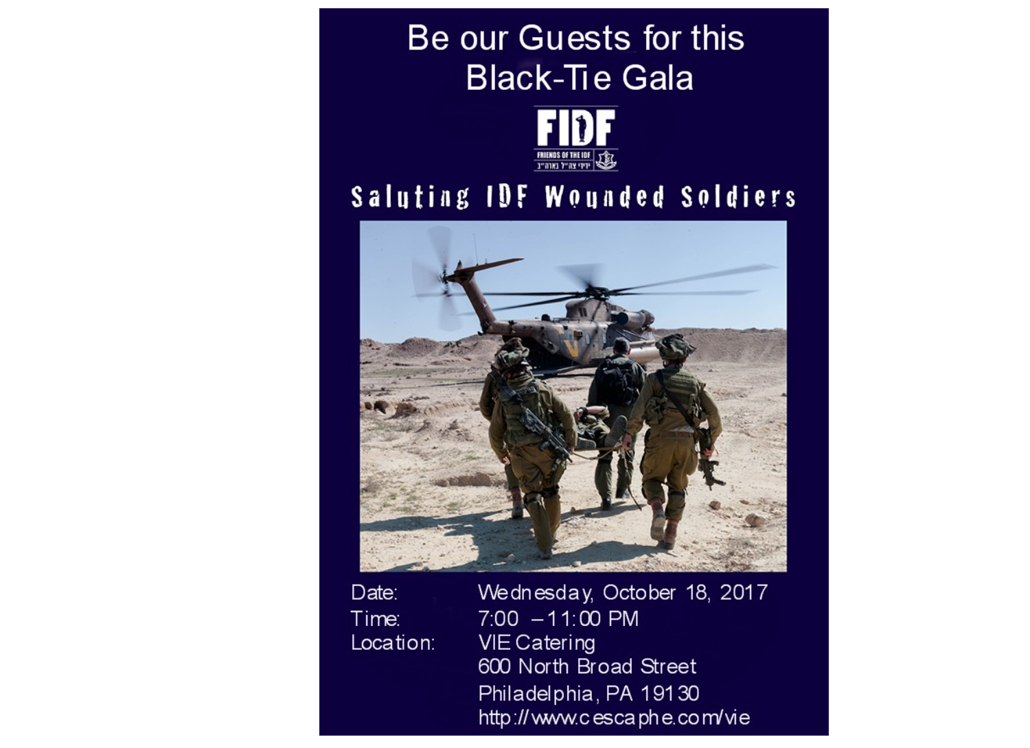 FIDF (Friends of the Israel Defense Forces) GALA - Saluting IDF Wounded Soldiers